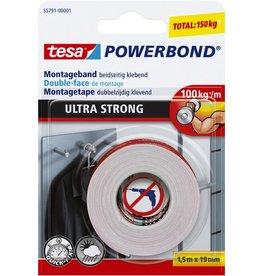 tesa Montageband POWERBOND® ULTRA STRONG, selbstklebend, 19 mm x 1,5 m