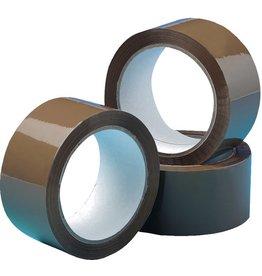 STAPLES Packband, PP, selbstklebend, 50 mm x 66 m, braun