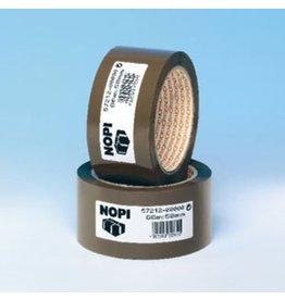 NOPI Packband, PP, selbstklebend, 50 mm x 66 m, braun