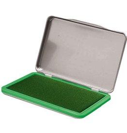 STAPLES Stempelkissen, Metall, Typ: 2, i: 11 x 7 cm, getränkt, grün