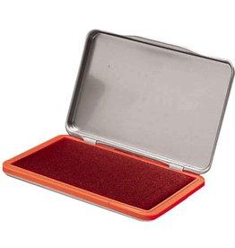 STAPLES Stempelkissen, Metall, Typ: 2, i: 11 x 7 cm, getränkt, rot