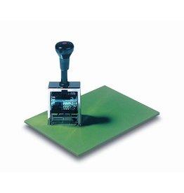Läufer Stempelunterlage, Naturkautsch., 23x17cm, grün