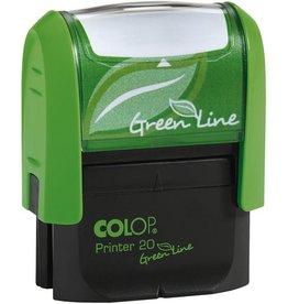 COLOP Textstempel GreenLine, m.Gutschein, 38x14mm, 4z., grün