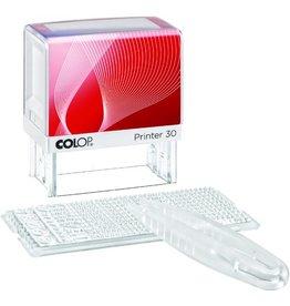 COLOP Textstempel Printer 30/1 Set, 47 x 18 mm, 5zeilig, Schrifth.: 3,5 mm