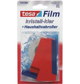 tesa Tischabroller, gefüllt, f.Ro.b.15mmx33m, rot/blau