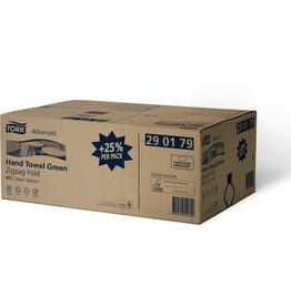 TORK Papierhandtuch Advanced, Zickzackfalzung, 15x250Tü., 25x23cm, grün