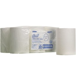 Scott Papierhandtuch, Slimroll, 6 x 660 Tücher, 20x25cm, weiß