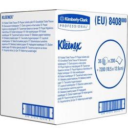 Kleenex Toilettenpapier Ultra, 2lg., Einzelbl., 36x200Bl., 12,5x18,5cm, weiß