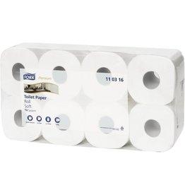 TORK Toilettenpapier Premium, 3lagig, Rolle, 250 Blatt, 10x13cm, weiß