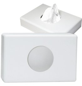 DEISS Hygienebeutelspender, leer, Kunststoff, 14 x 10 x 2,7 cm, weiß