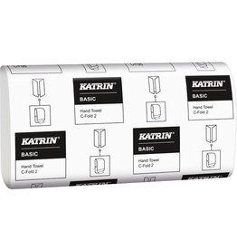 KATRIN Papierhandtuch Basic C-Fold, 2lg., Lagenf., 24x33cm, naturwe