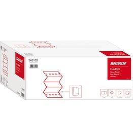 KATRIN Papierhandtuch Classic One Stop L, 2lg., Interfold, 34x23,5cm, weiß