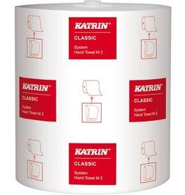 KATRIN Papierhandtuch System M 2, Rolle, 21cmx160m, weiß