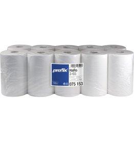 racon Papierhandtuch, Zellstoff, 3lg., Rolle o. Perf., 22 cm x 65 m, weiß