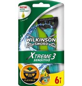 WILKINSON SWORD Rasierer Xtreme 3 sensitive, Einweg, Klinge: dreifach