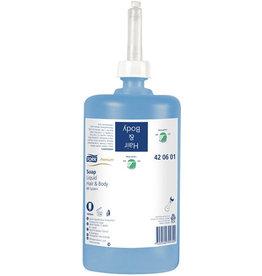TORK Seifencreme Premium, Hair & Body, flüssig, 6x1l, blau