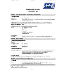deb Seifenschaum, Clear FOAM WASH, Nachf., Schaum, Patr., 6x1l
