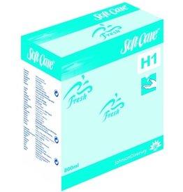 Soft Care Seifenschaum, Fresh H1, Nachf., flüssig, Patr.m.Spenderpumpe, blau