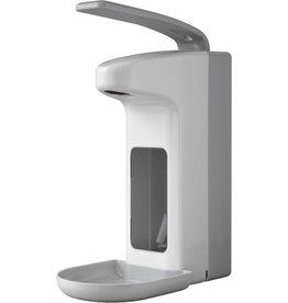 TEMDEX Seifenspender, ABS, abschließbar, 12 x 20,5 x 31 cm, weiß/grau