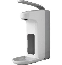 TEMDEX Seifenspender, ABS, abschließbar, 12 x 23 x 34 cm, weiß/grau