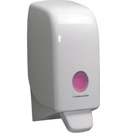 AQUARIUS* Seifenspender, Kunststoff, abschließbar, 11,6x11,4x23,5cm, weiß