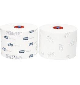 TORK Toilettenpapier Compact, mit Prägung, 2lg., Rolle, 10cmx100m, weiß