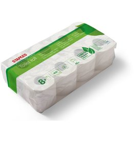 STAPLES Toilettenpapier SUSTAINABLE EARTH™, 2lg., 400 Blatt, naturweiß