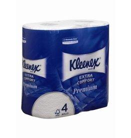 Kleenex Toilettenpapier, 4lg., auf Rolle, 160 Blatt, 6 x 4 Rollen, hochweiß
