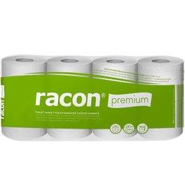 racon Toilettenpapier, Tissue, RC, 3lg., Rolle, 250Bl., 7x8Ro., weiß