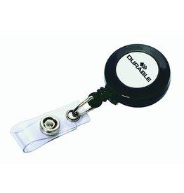 DURABLE Ausweishalter, mit Druckknopf, ausziehbar auf: 80 cm, anthrazit