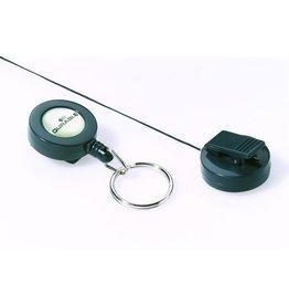DURABLE Ausweishalter, mit Schlüsselring 25 mm, ausziehbar auf: 60 cm