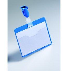 DURABLE Namensschild, mit: Clip, Hartfolie, 90 x 60 mm, blau