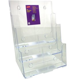 STAPLES Prospekthalter, 3 Fächer A4, 244x160x320mm, farblos, tr