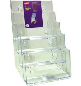 STAPLES Prospekthalter, 4 Fächer A5, 172x158x254mm, farblos, tr