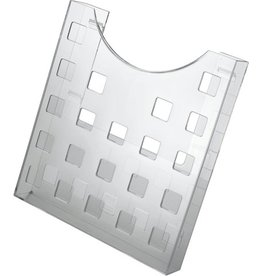 helit Prospekthalter, f.Wand/Tisch, 1Fa.A4h, 241x37x264mm, grau, tr