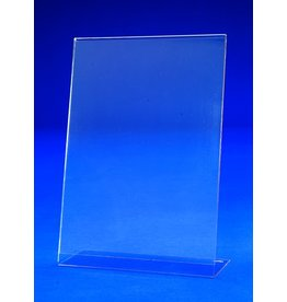 sigel Tischaufsteller, L-Form, A4 hoch, 21,2 x 8 x 29,5 cm, glasklar