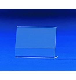 sigel Tischaufsteller, L-Form, A7 quer, 10,5 x 3,8 x 7,7 cm, glasklar