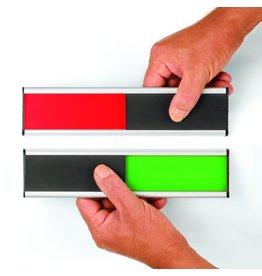 Legamaster Türschild, Schild B x H: 250 x 60 mm, Druckf.: grün/rot