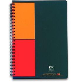 Oxford Adressbuch, PP, A5, schwarz/rot/orange