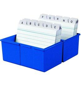 HAN Karteikasten, PS, A5q, 228x102x171mm, für: 450 Karten, blau
