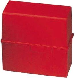 HAN Karteikasten, PS, A6q, 165x96x128mm, für: 400 Karten, rot