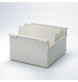 helit Karteitrog, stapelbar, einhängbar, A4q, 318x350x215mm