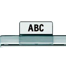 HAN Sichtreiter, Kunststoff, zum Schieben, 35x25mm, transparent