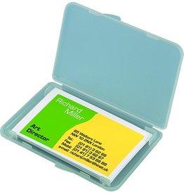 sigel Visitenkartenbox, 123,5x74x15mm, für: 25 Karten, farbl., tr, matt
