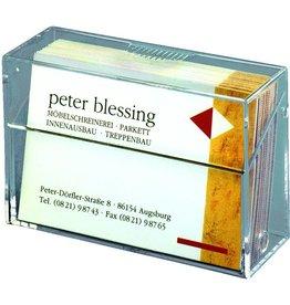 sigel Visitenkartenbox, 92x30x59mm, für: 100 Karten, farbl., tr