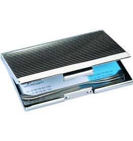 sigel Visitenkartenbox, 95x62x6mm, für: 20 Karten, silb, gl.