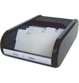 helit Visitenkartenbox, Kunststoff, für: 300 Karten, schwarz