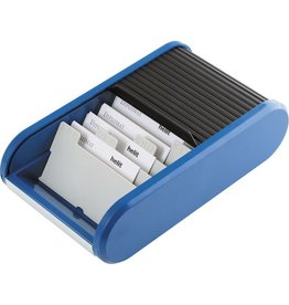 helit Visitenkartenbox, Kunststoff, für: 300 Karten, schwarz/blau