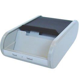 helit Visitenkartenbox, Kunststoff, für: 300 Karten, schwarz/lichtgrau