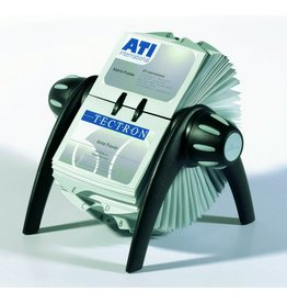 DURABLE Visitenkartenrollkartei VISIFIX® FLIP VEGAS, für: 400 Karten, schwarz